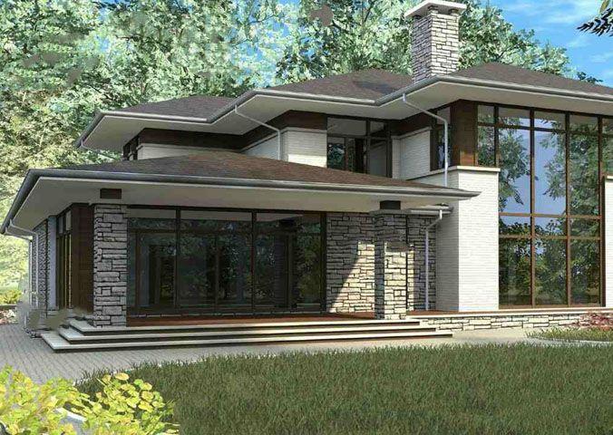Проект дома в стиле Райта