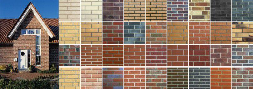 Разнообразие клинкерной фасадной плитки