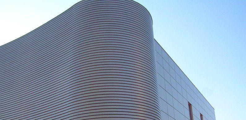 Реечный алюминиевый фасад