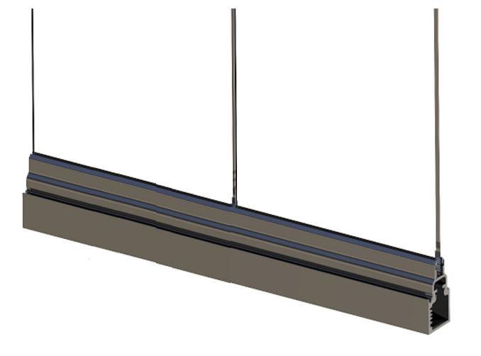 Система с опорой на нижний направляющий профиль безопаснее, чем подвесная конструкция