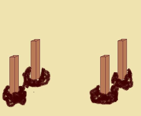 Схема опор для несущей плиты