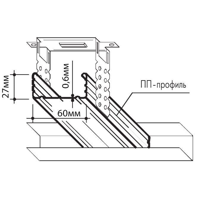 Схема профиля и подвеса