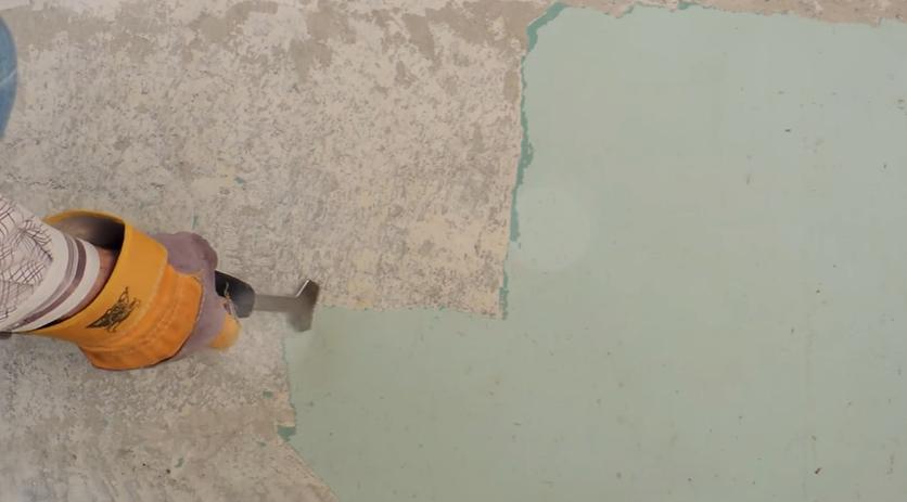 Способ удаления старой краски со стены