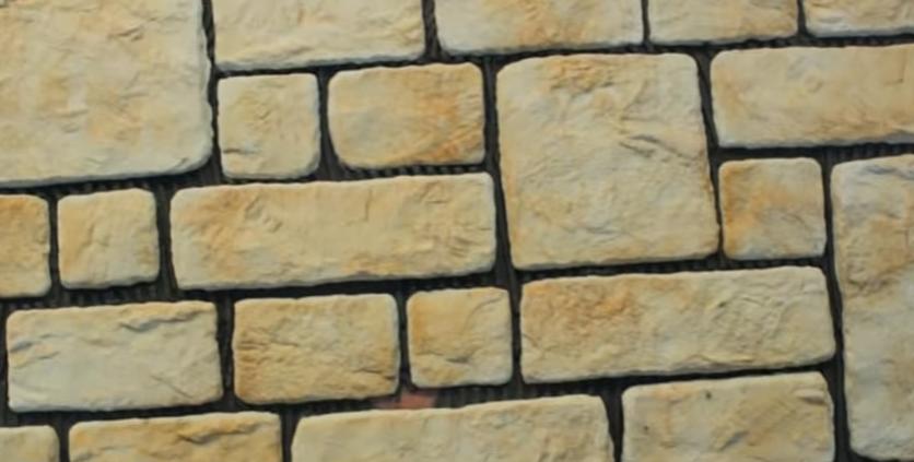 Стена до расшивки швов