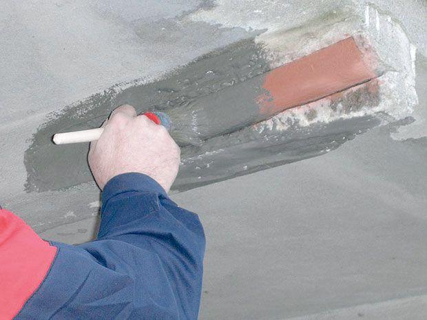 Связующий слой должен наноситься на поверхность, площадь которой превышает ремонтируемую поверхность