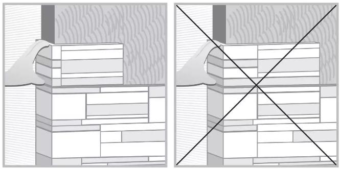 Укладка камня снизу вверх исключит вероятность его скольжения