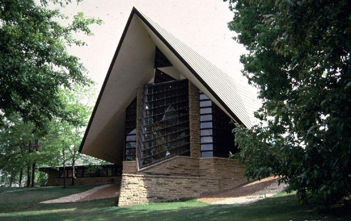 Унитарианский дом заседаний - архитектор Френк Ллойд Райт
