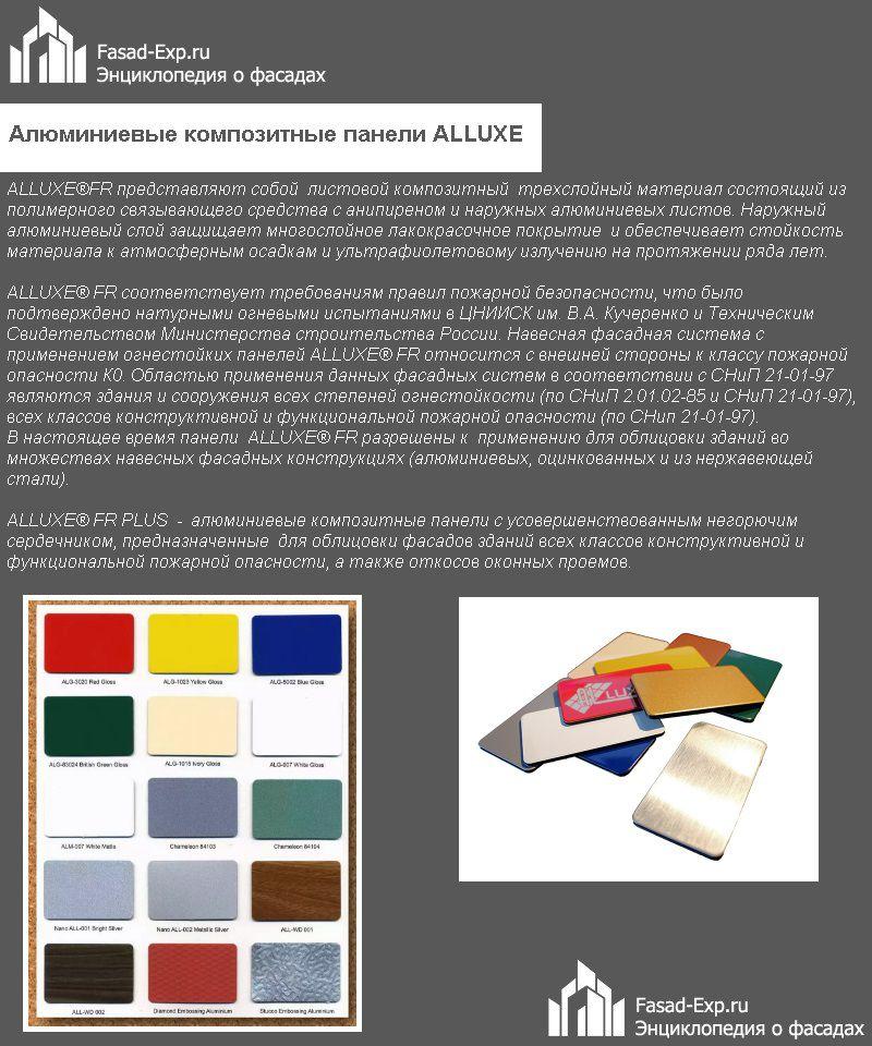 Алюминиевые композитные панели ALLUXE