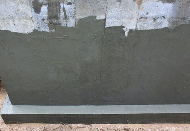 Гидроизоляционная штукатурка на цоколе дома