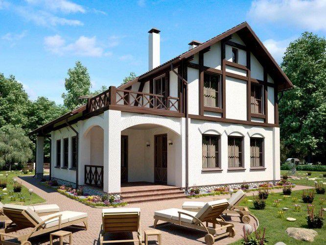 Дом с верандой с немецком стиле
