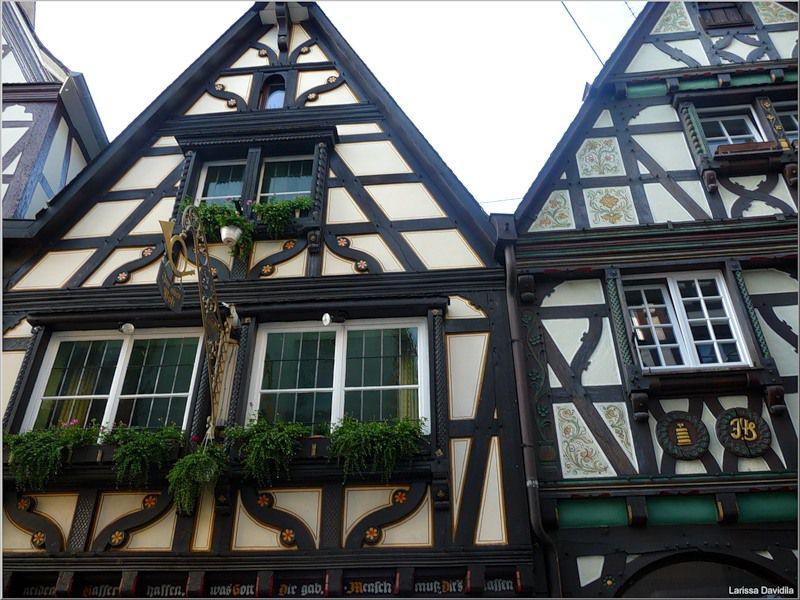 Фахверковые дома - немецкий стиль
