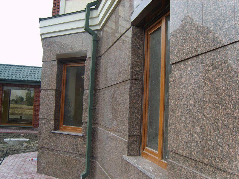 Мраморная облицовка фасада