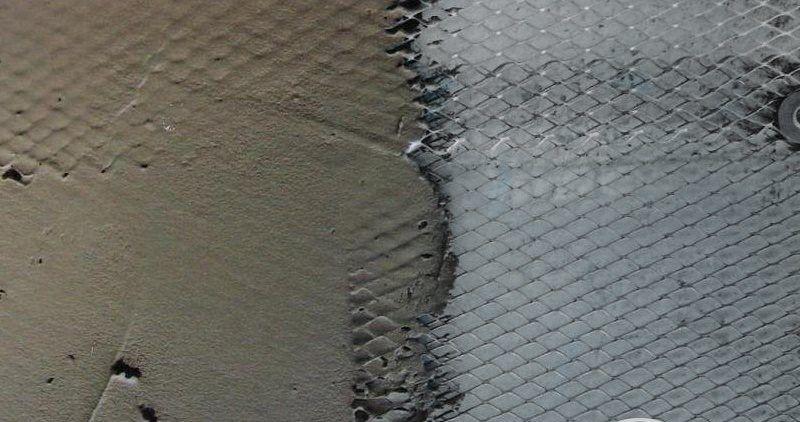 Нанесение цементно-песчаного раствора