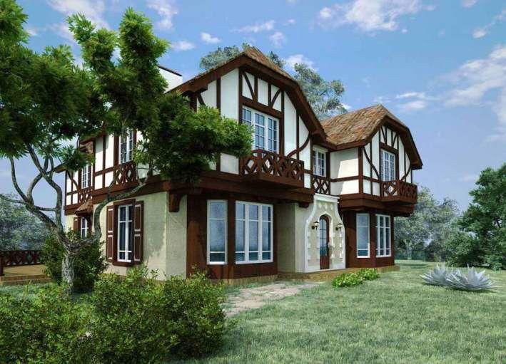Небольшие балконы - особенность стиля