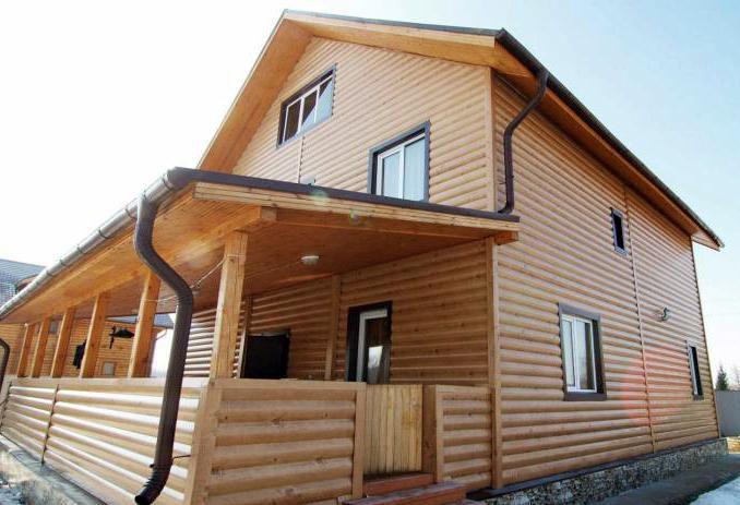 Обшивка дома деревянным блок хаусом