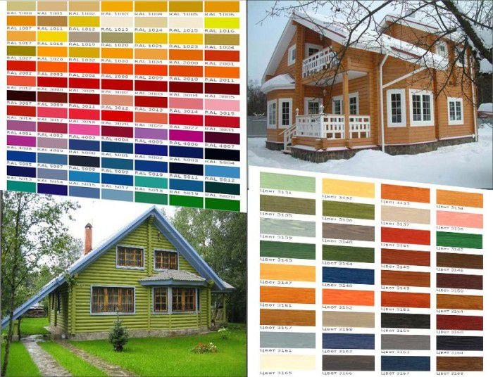 Палитра фасадных красок