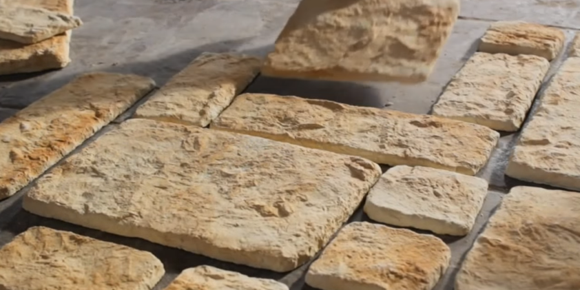 Пример выкладывания камня на пол, подгонка по размерам