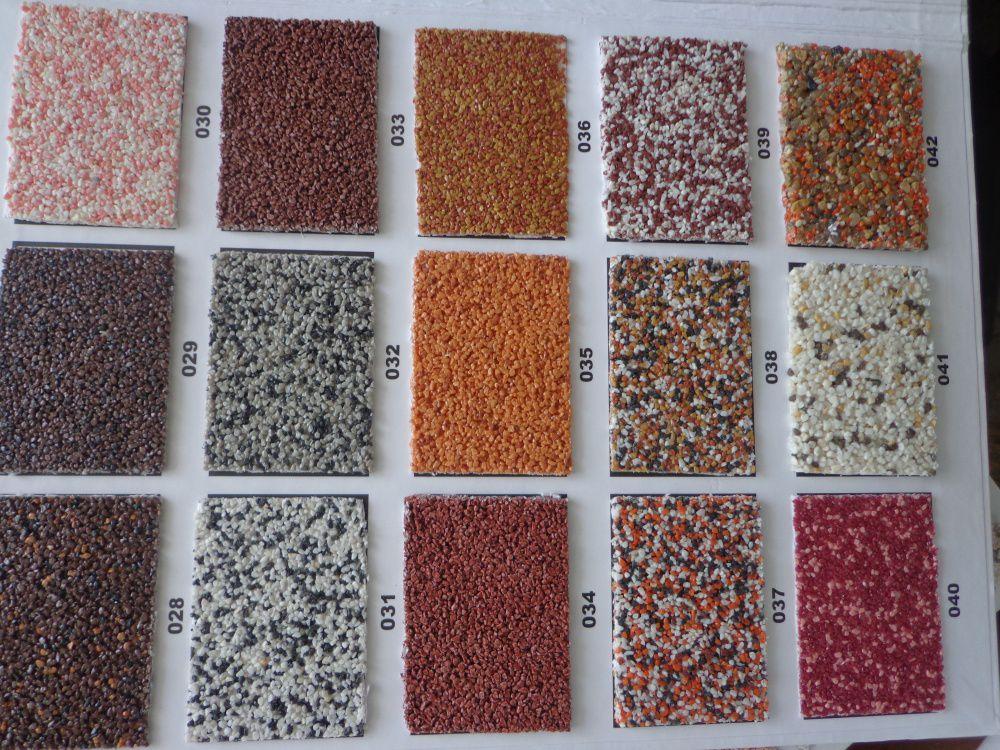 Разные оттенки мраморной штукатурки