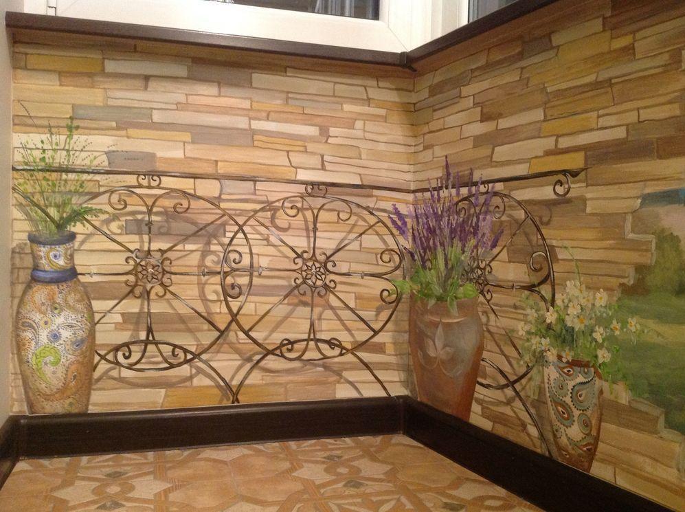 Роспись стен в стиле прованс