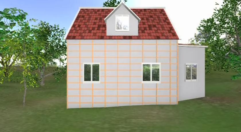 Схема деревянной обрешетки