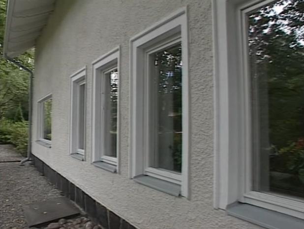 Стена дома после окрашивания