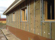 Теплоизоляция фасада технологией вентилируемого фасада с применением минваты