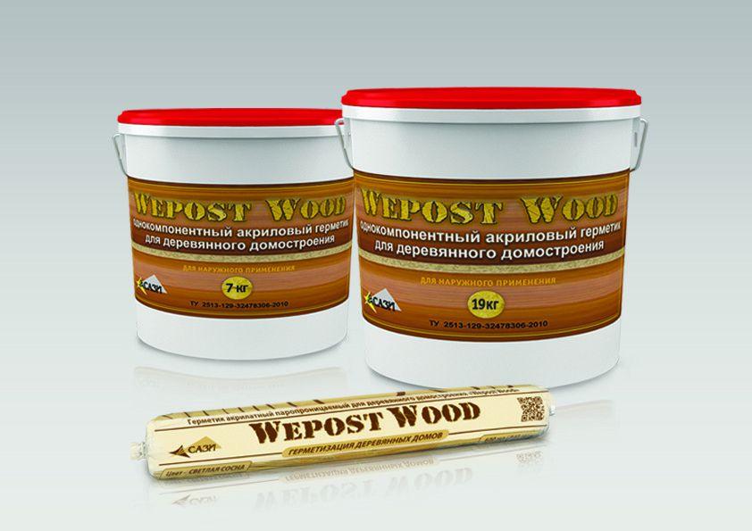 Wepost Wood акриловый герметик для деревянных домов