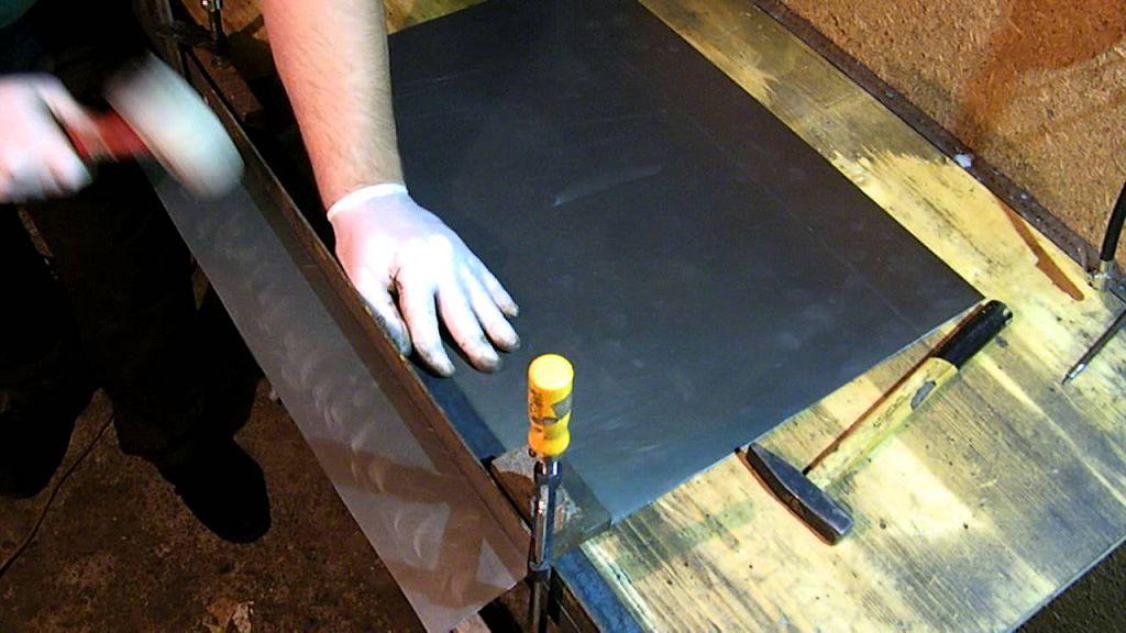 Как ровно загнуть стальной лист