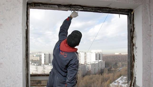 Подготовка проема окна
