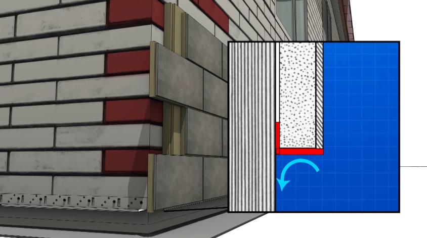 Схема установки панели на стартовый профиль