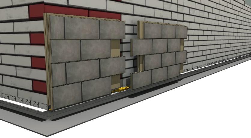 Схема установки второй термопанели