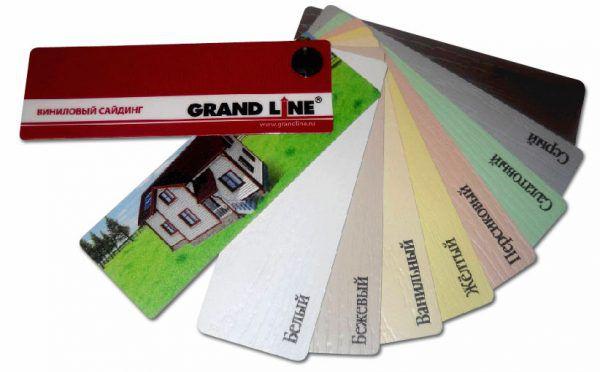 Цвета винилового сайдинга Grand Line