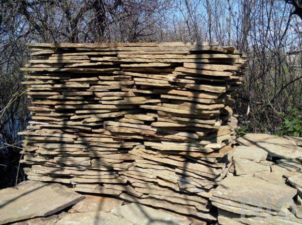 Дикий камень песчаник (плашка)