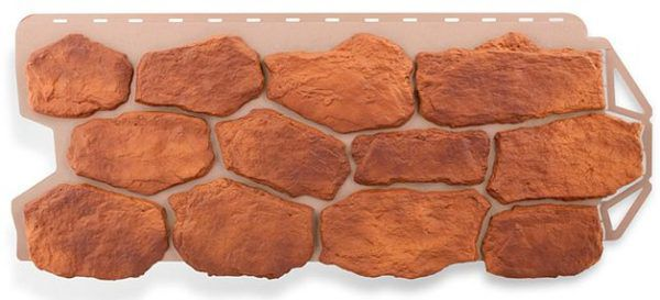 Еще один пример цокольной панели под камень