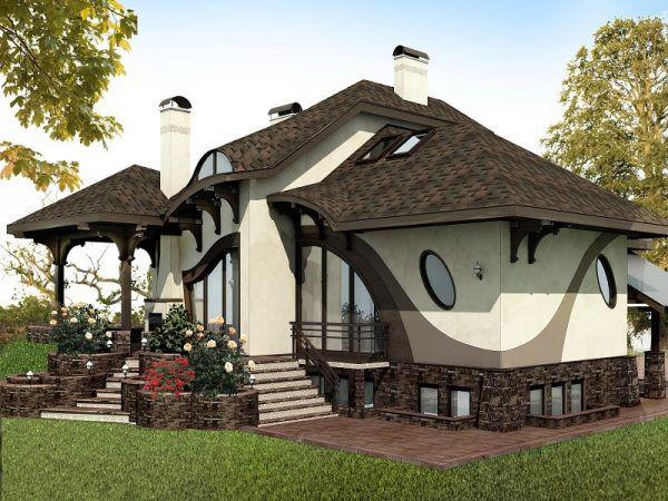 Еще один проект дома в стиле модерн