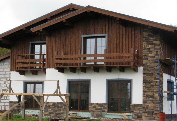 Готовый дом в стиле шале