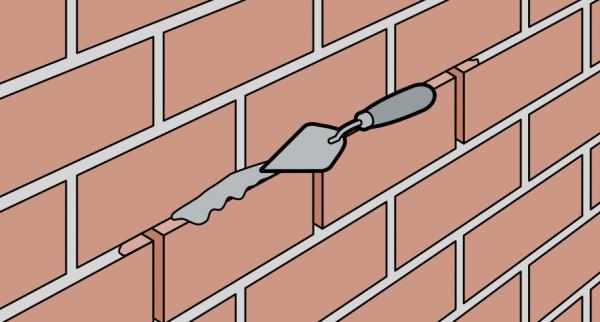 Как затереть швы кирпичной кладки