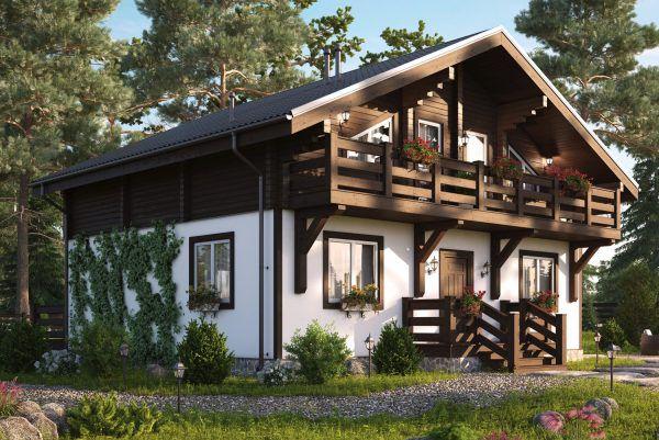 Комбинированный дом 225 кв.м