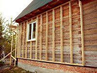 Крепление сайдинга к деревянному дому