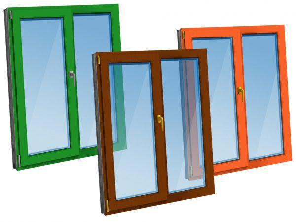 Ламинированные окна - несколько популярных цветов