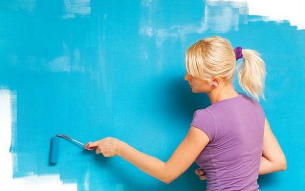 Латексная краска используется как на внутренней, так и для наружной отделки