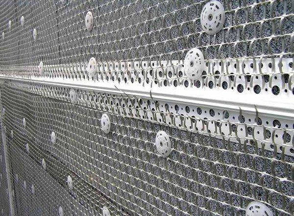 Металлическая фасадная сетка