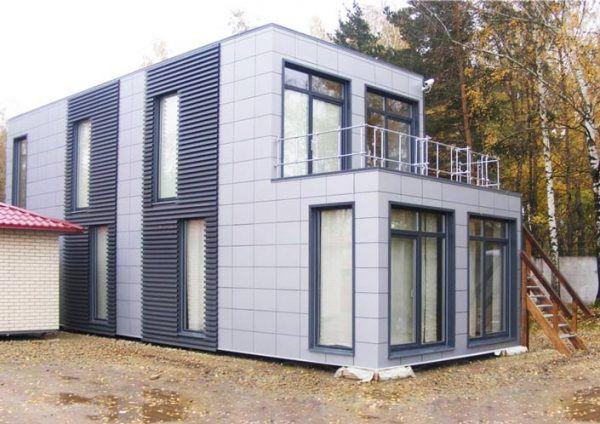 Металлический сайдинг может стать дизайн-элементом на любых зданиях и модульных конструкциях