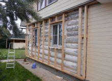 Монтаж обрешетки на бревенчатый дом для укладки утеплителя