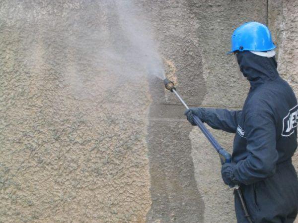 Мытье фасада