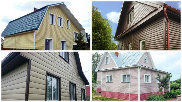 Несколько вариантов отделки фасада сайдингом