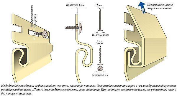 Правила установки рядовых панелей сайдинга
