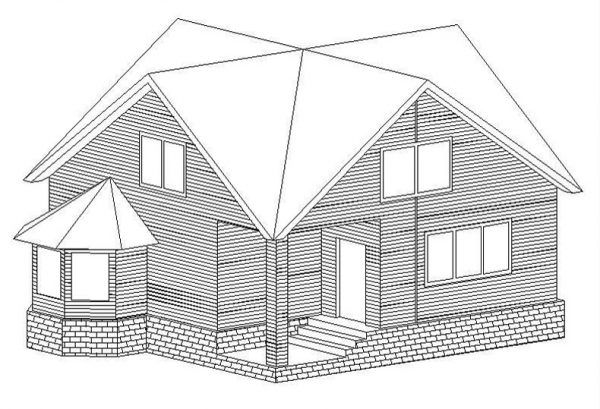 Пример чертежа дома