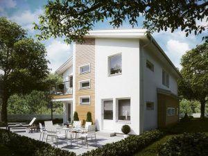 Пример двуэтажного дома в стиле модерн