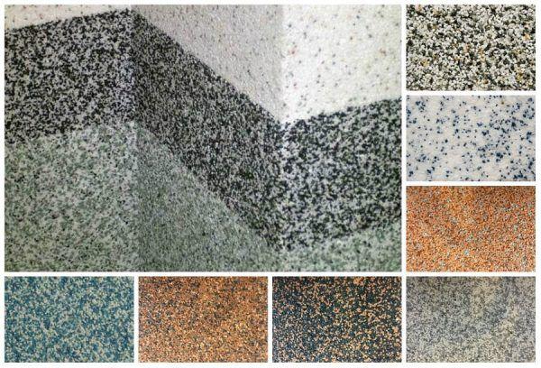 Примеры минеральных покрытий с кварцевым зерном